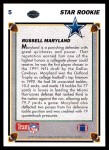 1991 Upper Deck #5  Russell Maryland  Back Thumbnail