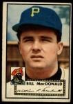 1952 Topps #138 CRM Bill MacDonald  Front Thumbnail