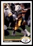 1991 Upper Deck #309  Carnell Lake  Front Thumbnail