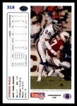 1991 Upper Deck #318  Everson Walls  Back Thumbnail