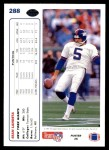 1991 Upper Deck #288  Sean Landeta  Back Thumbnail
