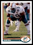1991 Upper Deck #385  Keith Sims  Front Thumbnail