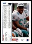 1991 Upper Deck #385  Keith Sims  Back Thumbnail