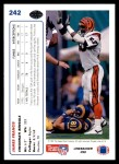 1991 Upper Deck #242  James Francis  Back Thumbnail