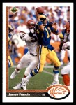 1991 Upper Deck #242  James Francis  Front Thumbnail