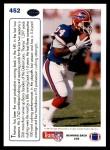 1991 Upper Deck #452  Thurman Thomas  Back Thumbnail