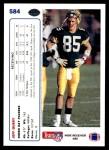 1991 Upper Deck #584  Jeff Query  Back Thumbnail