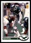 1991 Upper Deck #687  Byron Evans  Front Thumbnail