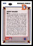 1991 Upper Deck #609  Kenny Walker  Back Thumbnail