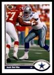 1991 Upper Deck #426  Jack Del Rio  Front Thumbnail