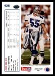 1991 Upper Deck #426  Jack Del Rio  Back Thumbnail