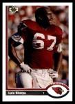 1991 Upper Deck #428  Luis Sharpe  Front Thumbnail