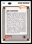 1991 Upper Deck #14  Rob Carpenter  Back Thumbnail
