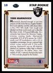 1991 Upper Deck #18  Todd Marinovich  Back Thumbnail