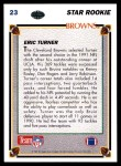 1991 Upper Deck #23  Eric Turner  Back Thumbnail