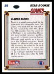 1991 Upper Deck #25  Jarrod Bunch  Back Thumbnail
