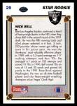 1991 Upper Deck #29  Nick Bell  Back Thumbnail