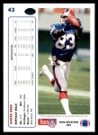 1991 Upper Deck #43  Andre Reed  Back Thumbnail