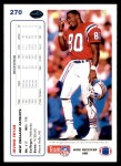 1991 Upper Deck #270  Irving Fryar  Back Thumbnail