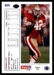 1991 Upper Deck #355  Ronnie Lott  Back Thumbnail
