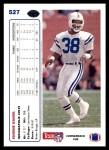1991 Upper Deck #527  Eugene Daniel  Back Thumbnail