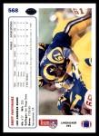 1991 Upper Deck #568  Brett Faryniarz  Back Thumbnail