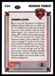 1991 Upper Deck #650  Darren Lewis  Back Thumbnail