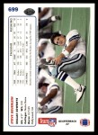 1991 Upper Deck #699  Steve Beuerlein  Back Thumbnail