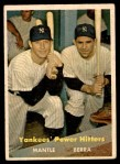 1957 Topps #407   -  Mickey Mantle / Yogi Berra Yankees' Power Hitters Front Thumbnail