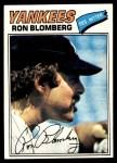 1977 Topps #543  Ron Blomberg  Front Thumbnail