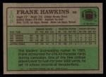 1984 Topps #108  Frank Hawkins  Back Thumbnail