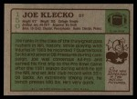 1984 Topps #150  Joe Klecko  Back Thumbnail