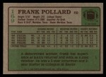 1984 Topps #169  Frank Pollard  Back Thumbnail