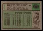 1984 Topps #243  Drew Pearson  Back Thumbnail