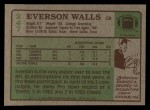 1984 Topps #247  Everson Walls  Back Thumbnail