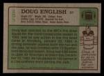 1984 Topps #253  Doug English  Back Thumbnail