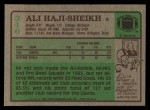 1984 Topps #316  Ali Haji-Sheikh  Back Thumbnail