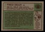 1984 Topps #354  Fred Dean  Back Thumbnail