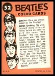 1964 Topps Beatles Color #52   Ringo, Paul and John Back Thumbnail