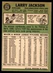 1967 Topps #229  Larry Jackson  Back Thumbnail