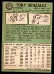 1967 Topps #548  Tony Gonzalez  Back Thumbnail