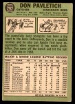 1967 Topps #292  Don Pavletich  Back Thumbnail