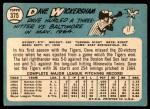 1965 Topps #375  Dave Wickersham  Back Thumbnail