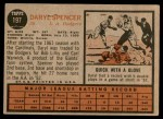 1962 Topps #197  Daryl Spencer  Back Thumbnail