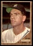 1962 Topps #65  Bobby Richardson  Front Thumbnail