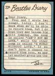 1964 Topps Beatles Diary #22 A John Lennon  Back Thumbnail