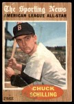 1962 Topps #467   -  Chuck Schilling All-Star Front Thumbnail