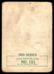 1964 Topps Beatles Black and White #151  John Lennon  Back Thumbnail