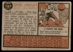 1962 Topps #187 NRM Gene Conley  Back Thumbnail