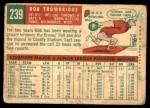 1959 Topps #239  Bob Trowbridge  Back Thumbnail